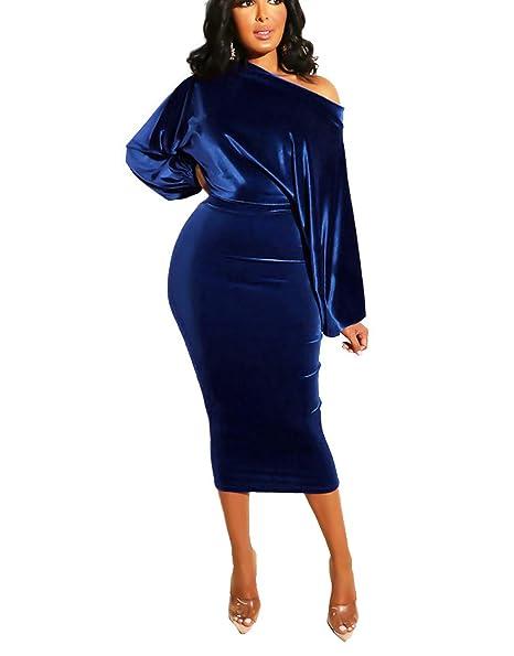 Amazon.com: Ophestin - Vestido de terciopelo para mujer ...
