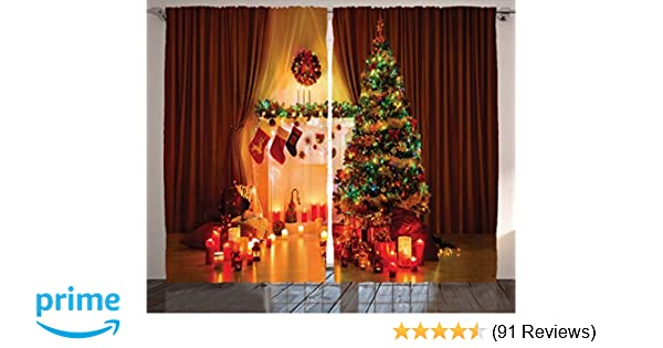 Amazon Ambesonne Christmas Curtain Decor Christmas Decorations