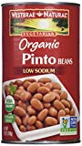 Westbrae Pinto Beans, Organic, 25-Ounce (Pack of 6)