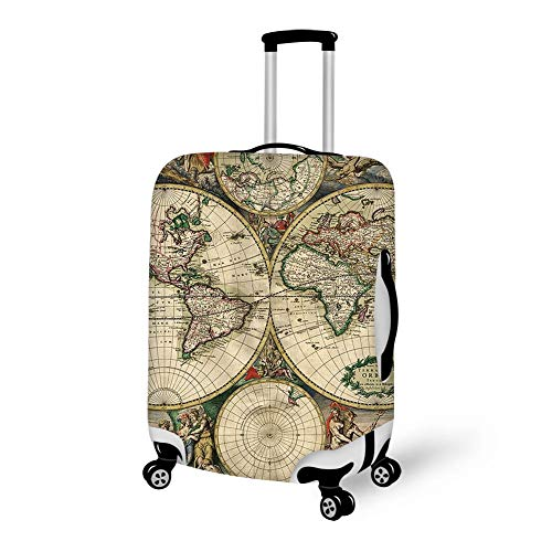 Luggage Cover Classic World Map Protective Travel Trunk Case Elastic Luggage Suitcase Protector Cover (Countries With Best Economic Future)