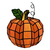 9'' H Patch the Pumpkin Stained Glass Accent Lamp