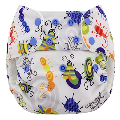 Blueberry One Size Simplex All in One Cloth Diapers, Made in USA (Bugs)