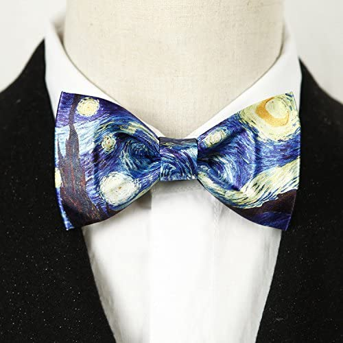 Starry Night Bow Tie for Men and Women Adjustable Pre-tied Bowtie Wedding Party Accessories