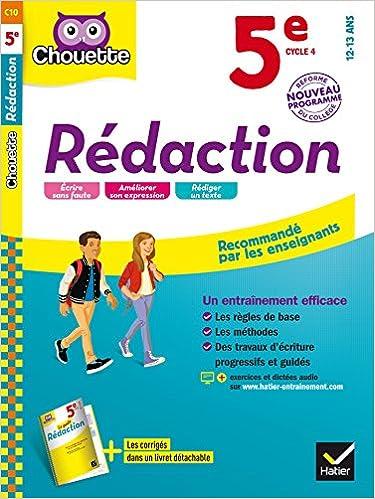 En ligne Rédaction 5e - Nouveau programme 2016 pdf, epub ebook