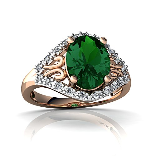 14kt Gold 9x7 Emerald - 7