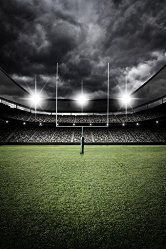 Football Field End Zone Goal Uprights Stadium Vintage Dramatic Enhanced Photo Poster 24x36 ()