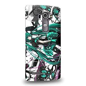 Case88 Premium Designs Vocaloid Miki Hatsune Miku 0959 Carcasa/Funda dura para el LG G4
