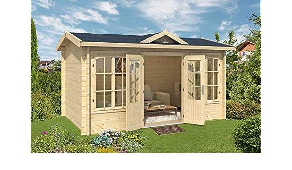 Jardín Casa G217 con soporte suelo – 44 mm listones hogar, superficie: 9,44 M², tejado: Amazon.es: Bricolaje y herramientas