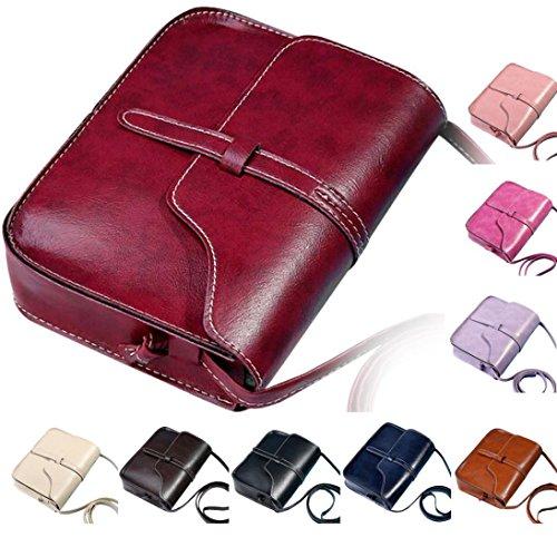 artificiel portefeuille Sac 4cm 18 H L de 5 bandoulière W 5cm 13 Internet à Vintage Rouge Diagonal Femmes Cuir YqEXEg
