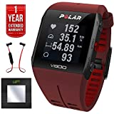 Polar V800 GPS Sports Watch Waterproof with H7 Heart Rate Sensor Red (90060772) + Bluetooth Digital Body Mass Bathroom Scale + Fusion Bluetooth Headphones Black/Red + 1 Year Extended Warranty