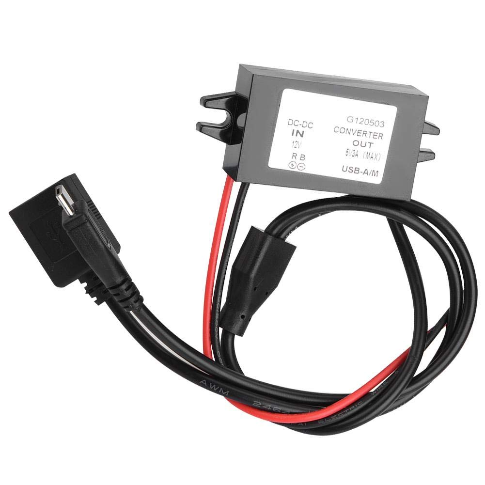 Convertisseur Abaisseur DC Convertisseur dAlimentation 12V /à 5V 3A USB-A//M Transformateur dAlimentation Adaptateur R/égulateur de Tension de Sortie