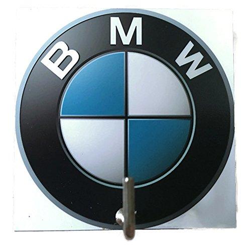 Bmw Hinges (Agility Bathroom Wall Hanger Hat Bag Key Adhesive Wood Hook Vintage BMW Logo's Photo)