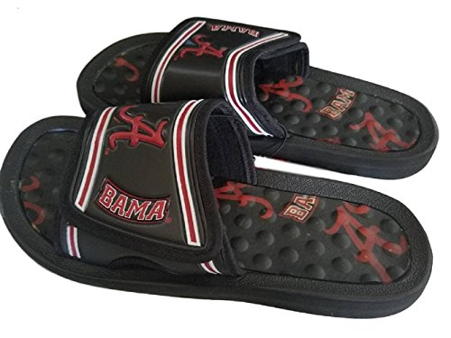 Footnotes Campus Alabama Crimson Marea Nero Cremisi Mens Scarpe Da Doccia Nero / Cremisi