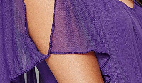 Femmes Noir Manches Beautisun T Cou Chemise Soie Shirt Cape Lait des Extensible Blouse D't Mousseline Couture V xawrORazIq