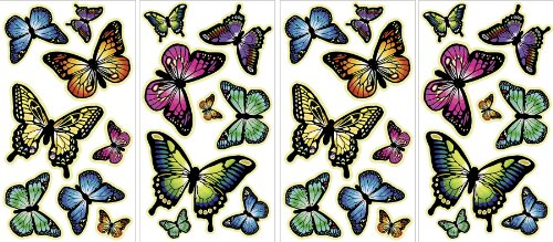 MyStyle MS0107 Butterflies Glow-In-The-Dark Peel and Stick Wall Art