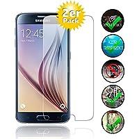 [2er Pack] Panzerglas für Samsung Galaxy S6 gehärtetes Glas 9H, Echtglas Glasfolie Panzerglasfolie Panzerfolie Smartphoneschutz Handyschutz Displayschutz Displayschutzfolie von Smartphone-Equipment
