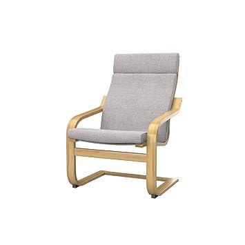 Soferia - IKEA POÄNG Funda para sillón, Naturel Lilly Beige ...
