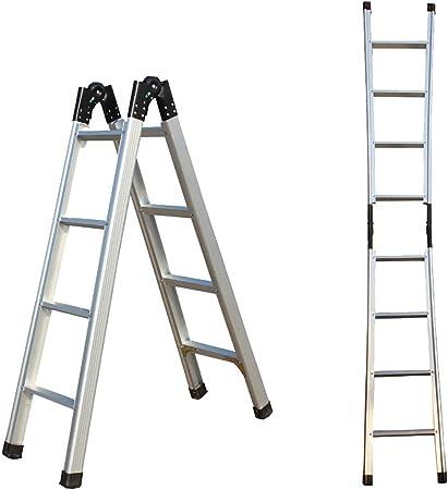 JB-TD Escalera De Aluminio Gruesa Escalera De Casa Plegable, 1,5 M Telescópicas Desplegables Escalera Simple De 3M, Escalera Multifunción Oficina De Cocina Al Aire Libre: Amazon.es: Hogar