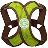 Gooby Choke Free Perfect Fit X Harness for Small Dogs, Small, Green