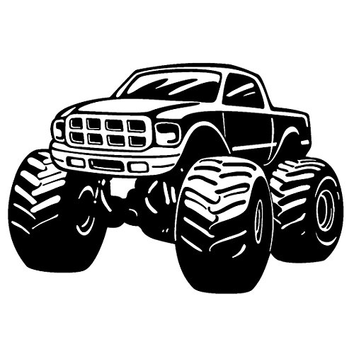 Monster Truck Vinyl Decal Sticker 100% Waterproof - Border Die Cut No Square - Monster Truck Wall Border