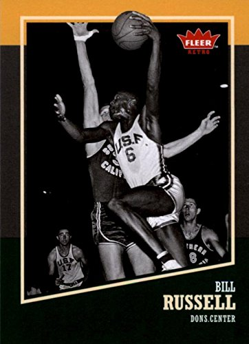 Bill Russell basketball card (San Francisco) 2014 Fleer Retro - 30 Retro Warehouse