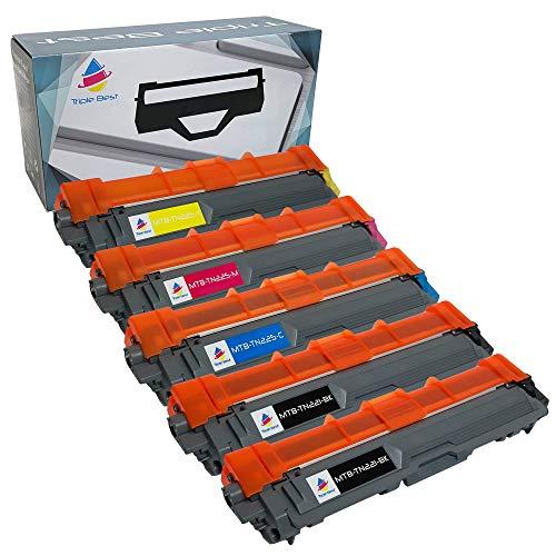 MyTripleBest® Set of 5 Compatible Laser Toner Cartridges for Brother TN-221BK TN-225C TN-225M TN-225Y High Yield Laser Toner Cartridges