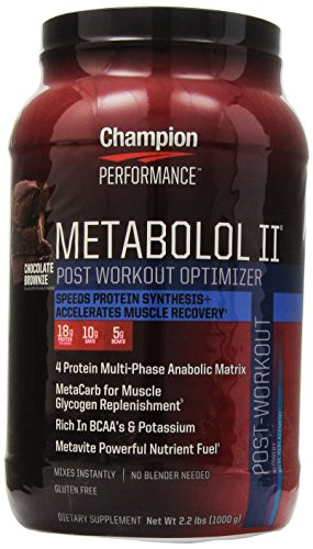 Champion Performance, Metabolol II, Post Workout Optimizer, Chocolate Brownie flavor, 2.2 lbs