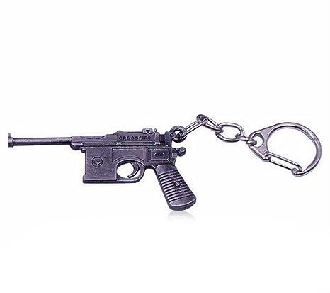 Retro Pistola Keychain Llavero Para Hombres Mujeres: Amazon ...