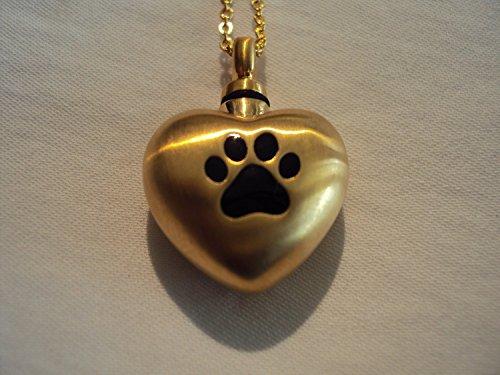 Delta Warm Heart Dog Paw Print Cremation Jewelry Keepsake...