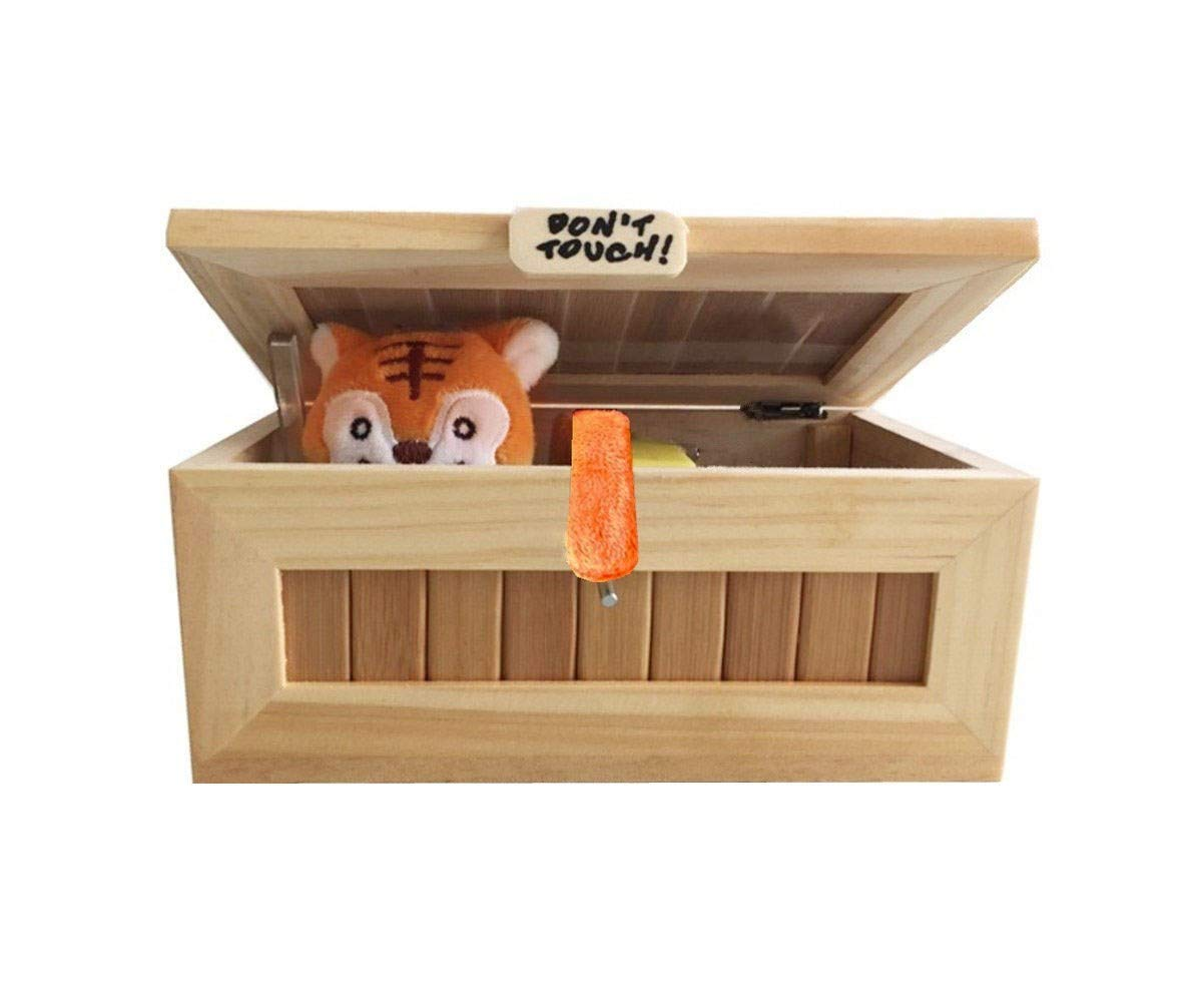 Abrrow Useless Box Fully Assembled Leave Me Alone Machine Turns Itself Off Best Gifts Endless Fun (Cute Tiger)