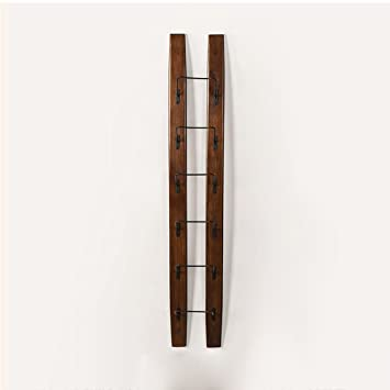 KMYX American Country Style Holz Wand Weinregal Wandbehang Regal ...