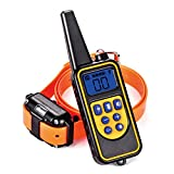 Waterproof Dog Shock Collar 540yd Remote Training Collar 4 in 1 Functional Light/Beep/Vibration/Shock Electric No Bark Collar for All Size Dogs (10Lbs - 100Lbs)