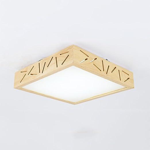 MLMHLMR Creativo Preferido Simple lámpara de Techo Moderna lámpara de Dormitorio cálido Creativo nórdico IKEA Madera Maciza Estilo japonés Tatami lámparas led Luz de Techo (Color : White Light): Amazon.es: Hogar