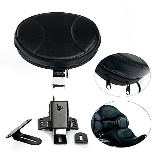 Motorcycle Backrest Driver (YaeKoo Motorcycle PU Detachable Adjustable Rider Driver Backrest Pad Harley Touring)