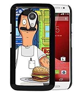 Fashionable And Unique Designed Cover Case With Bob's Burgers 6 Black For Motorola Moto G 2nd Generation Phone Case