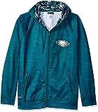 Zubaz NFL Philadelphia Eagles Male Full Zip Camo Space Dye Hoodie, Small, Pine Needle Green