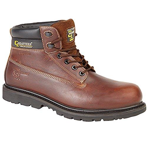 Grafters - Calzado de protección para hombre marrón