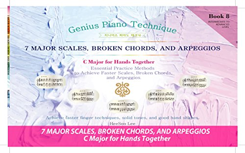 Easy Piano Software - GENIUS Piano Technique Series C Major Hands Together Book 8, Piano Scales Arpeggios Book, Excellent learning Piano Keyboard, Good for start your own music, Easy piano learning book, Piano notes
