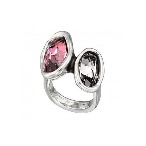 Uno De 50 Damen-Ring Versilbert Kristall rot Ringgröße verstellbar - ANI0403RSAHUM0L