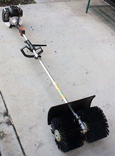 Outdoor Gas Power Hand Held Broom Walk Behind Sweeper Concrete Driveway Cleaning Tools High Performance Cleaner - Skroutz