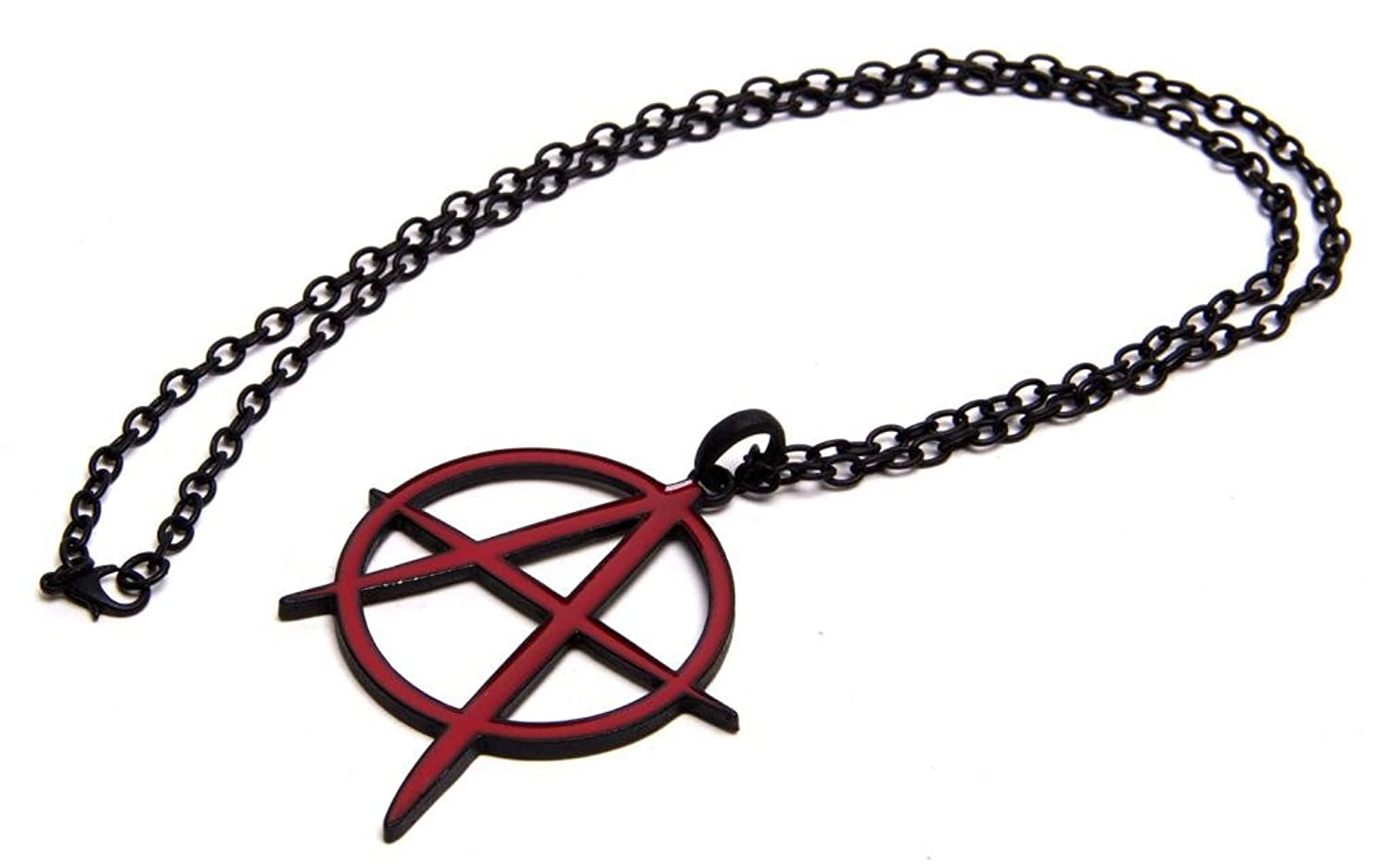Amazon red anarchy a necklace clothing biocorpaavc Choice Image