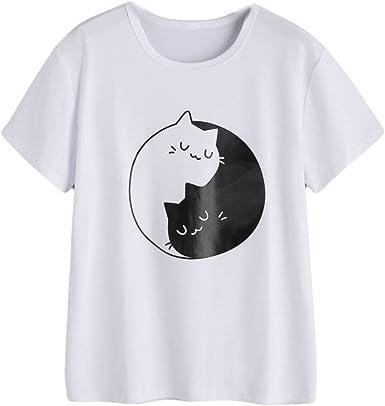 FAMILIZO Camisetas Casual Mujer Verano Camisetas Blancas Mujer Algodon Camisetas Mujer Tallas Grandes Camisetas Mujer Verano Blusa Mujer Camisetas Basicas Mujer Manga Corta Tops: Amazon.es: Ropa y accesorios