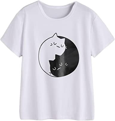 FAMILIZO Camisetas Casual Mujer Verano Camisetas Blancas Mujer ...