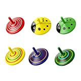Classic Children's Toys Wooden Spinning Top 6pc