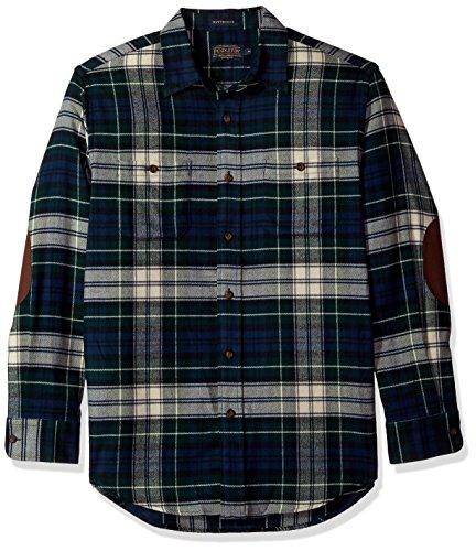 Pendleton Men's Long Sleeve Button Front Hawthorne Flannel Shirt, Dress Forbes-562206, SM