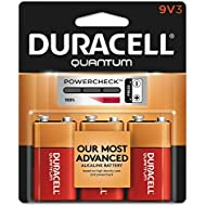 Duracell - Quantum 9V Alkaline Batteries - Long Lasting, All-Purpose 9 Volt Battery for Household and Business - 3 Count