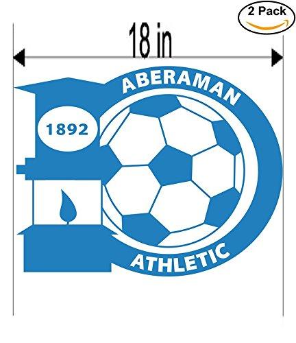 Aberaman Athletic FC United Kingdom Soccer Football Club FC 2 Stickers Car Bumper Window Sticker Decal Huge 18 inches
