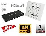 4K HDbaseT Wall Plate Extender Kit HDMI UltraHD 230FT 70M Transmitter Receiver IR RS232 CAT5e CAT6 HDCP2.2 CRESTRON CONTROL4 SAVANT HOME AUTOMATION 4K2K