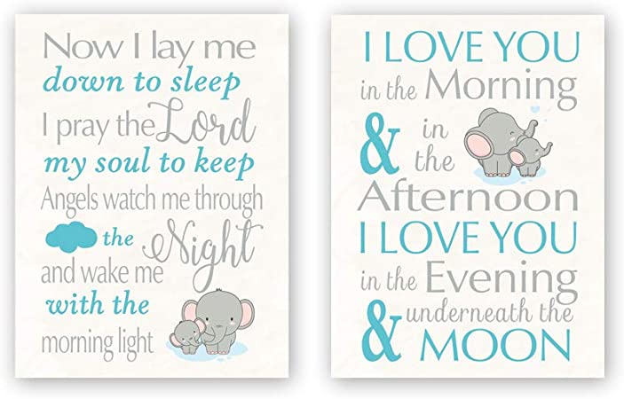 Amazon Com Chditb Unframed Elephant Wall Art Print Inspirational Quotes Canvas Posters Set Of 2 12 X16 Motivational Saying I Love You Painting Animal Artworks For Kids Teens Nursery Bedroom Playroom Decor Posters