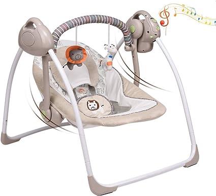 Xe đu trẻ em có thể gập lại đa chức năng VASTFAFA, Ghế trượt âm nhạc êm dịu cho bé